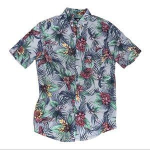 H&M Men's Floral Short Sleeved Button Down XS